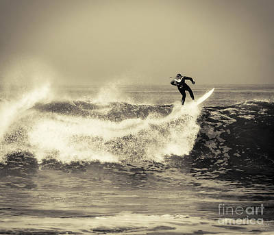 Photograph - Surfing The Lip by David Millenheft