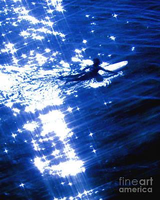 Surfing The Stars Art Print by Jerome Stumphauzer