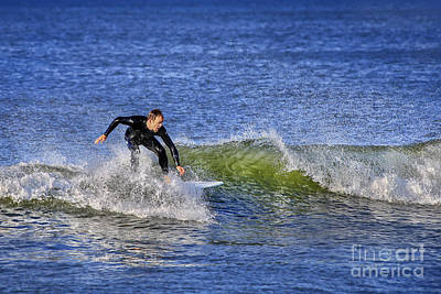 Athletes Royalty-Free and Rights-Managed Images - Surfing USA by Evelina Kremsdorf