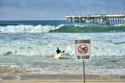 Photograph - Surfing Venice Beach Ca by David Zanzinger