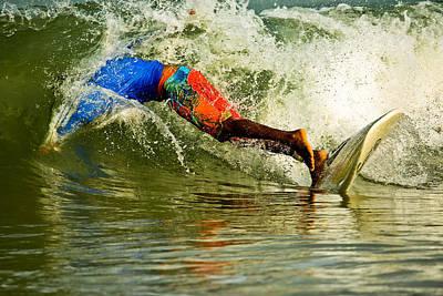 Newsom Photograph - Surfing Wipeout by Nila Newsom