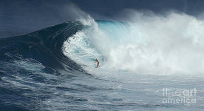 Laird Hamilton Photograph - Surfing With Giants by Bob Christopher