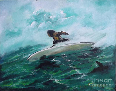 Painting - Surfs Up by Donna Chaasadah