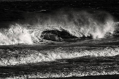 Photograph - Surf's Up In Ocean City In Black And White by Bill Swartwout