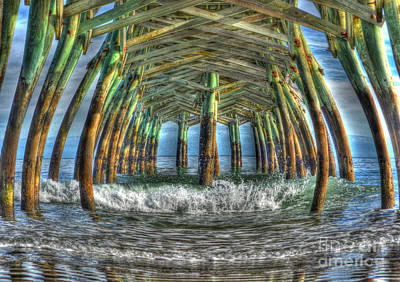 Photograph - Surfside Beach Pier At Dusk by Kathy Baccari