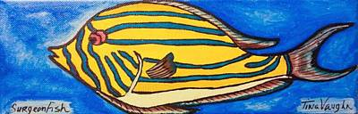 Surgeonfish Painting - Surgeonfish by Lady Ex