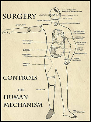 Surgery Controls The Human Mechanism   1906 Art Print by Daniel Hagerman
