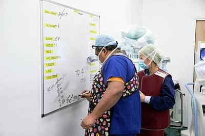 Whiteboard Photograph - Surgical Equipment Tracking by Mark Thomas