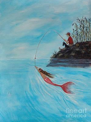 Painting - Surprise Catch by Leslie Allen