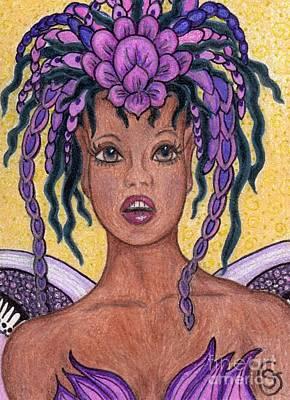 Surprise It Is The Iris Fairy Art Print