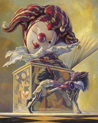 Boxes Painting - Surprise by Leonard Filgate