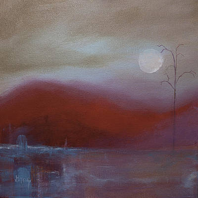 Painting - Surreal Abstract Landscape Painting On Gallery Wrapped Canvas  by Gray  Artus