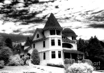 Surreal Black White Mackinac Island Michigan Home Art Print
