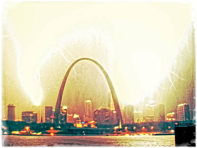 Mississippi River Digital Art - Surreal Blowout St Louis by Garry McMichael
