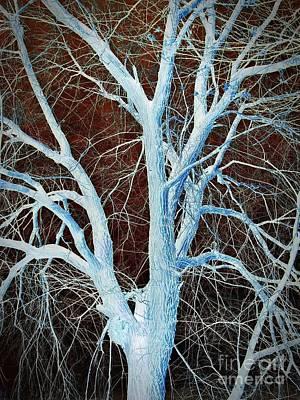 Surreal Blue Tree Art Print