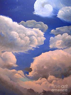 Painting - Surreal Cloud One by Paula Marsh