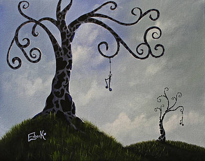 Surreal Dreamscape Painting Original by Shawna Erback