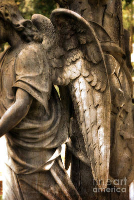 Angel Art Photograph - Surreal Dreamy Angel Art Wings - Guardian Angel Art Wings by Kathy Fornal