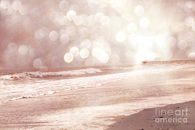 Surreal Dreamy South Carolina Ocean Beach Nature Art Print by Kathy Fornal