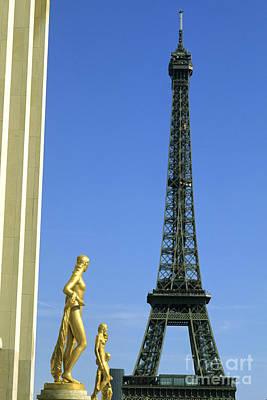 Photograph - Surreal Eiffel Tower Scene by Bill Bachmann
