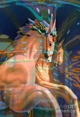 Photograph - surreal fantasy horses - Pier Pair by Sharon Hudson