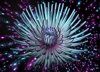 Digital Art - Surreal Flower  by Louis Ferreira