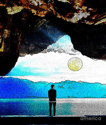 Surrealism Royalty Free Images - Surreal landscape Royalty-Free Image by Celestial Images