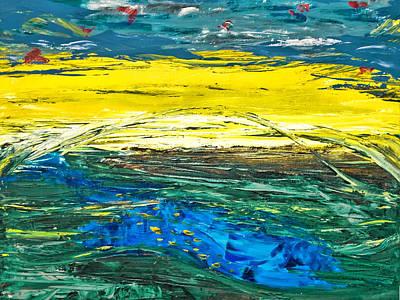 Painting - Surreal Landscape by Alexandra Jordankova