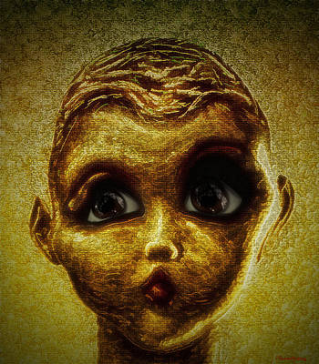 Scary Digital Art - Surreal Portrait In Color by Ramon Martinez