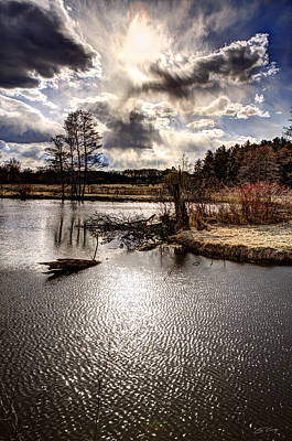 Surreal Sky At Sunfish Pond Art Print by Ed Cilley