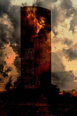 Surreal Sky Scraper Print by Gunter Nezhoda