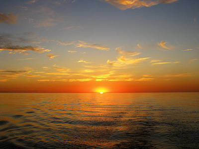 Surreal Sunrise At Sea Art Print