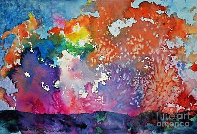 Surreal Sunset Art Print by Joan Hartenstein