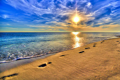 Surreal Sunset On The Beach Print by Five Star Photographics