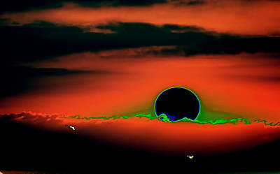 Surrealism Royalty-Free and Rights-Managed Images - Surreal Sunset over Cantabric Sea by Aurelio Bello