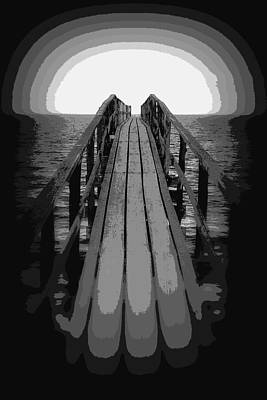 Photograph - Surreal Sunset Pier by Ramona Johnston
