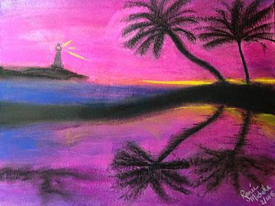 Painting - Surreal Sunset by Renee Michelle Wenker
