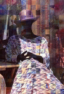 Photograph - surreal urban mannequin - Incognito by Sharon Hudson