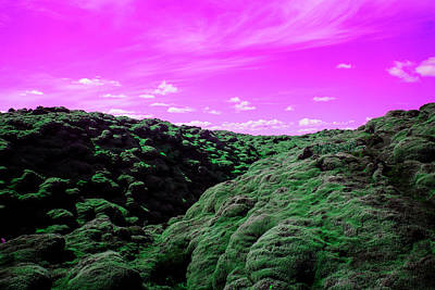 Photograph - Surreal Volcanic Landscape In Southern by Mimi  Haddon