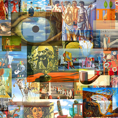 Timeline Mixed Media - Surrealism  During The 1920s by Anders Hingel
