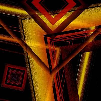 Shadow Digital Art - Surrealist Geometry With Brightness And Shadows by Mario Perez