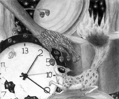 Pi Drawing - Surrealist Squirrel by Christina Boyt