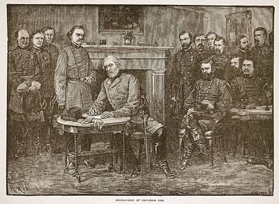 Surrender Of General Lee Art Print