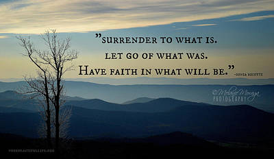 Surrender To What Is... Art Print