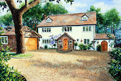 Architectural Art Painting - Surrey Home by Hanne Lore Koehler