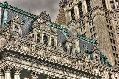 Surrogate's Courthouse Detail Art Print by David Bearden