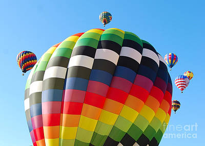 Photograph - Surrounded By Hot Air by Mark Spearman