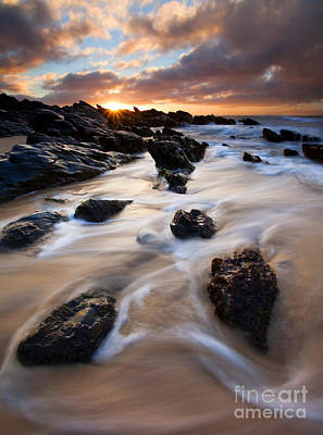 Seascape. Wave Photograph - Surrounded By The Tides by Mike  Dawson