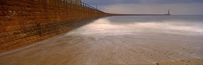 Surrounding Wall Along The Sea, Roker Art Print by Panoramic Images