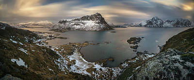 Sunset In Norway Photograph - Surroundings Of Offersoykamen by Panoramic Images